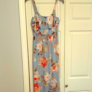 Ankle length, stretchy summer dress
